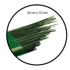 Alambre Verde Florista 12mm x 40 cm