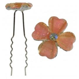 Horquilla Trebol 4 Hojas Rosa Ø 6,5 cm