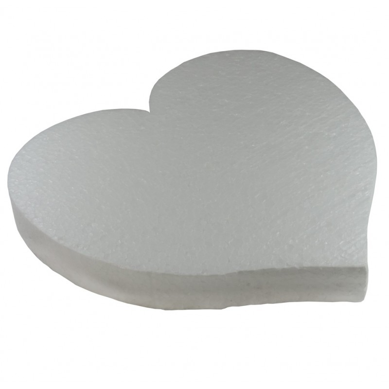 Base Corazon Ø40 cm Blanco Poliespan