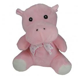 Peluche Hipopotamo Rosa Lazo 19 cm