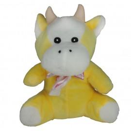 Peluche Vaquita Amarilla Lazo 19 cm