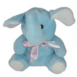 Peluche Elefante Celeste Lazo 20 cm