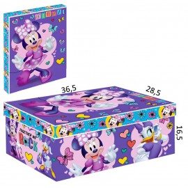 Caja Carton Minnie Corazon Lila 36,5x28.5 cm