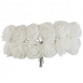 Mini Rosa Foam Ø 25 mm Blanco
