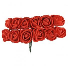 Mini Rosa Foam Ø 25 mm Rojo