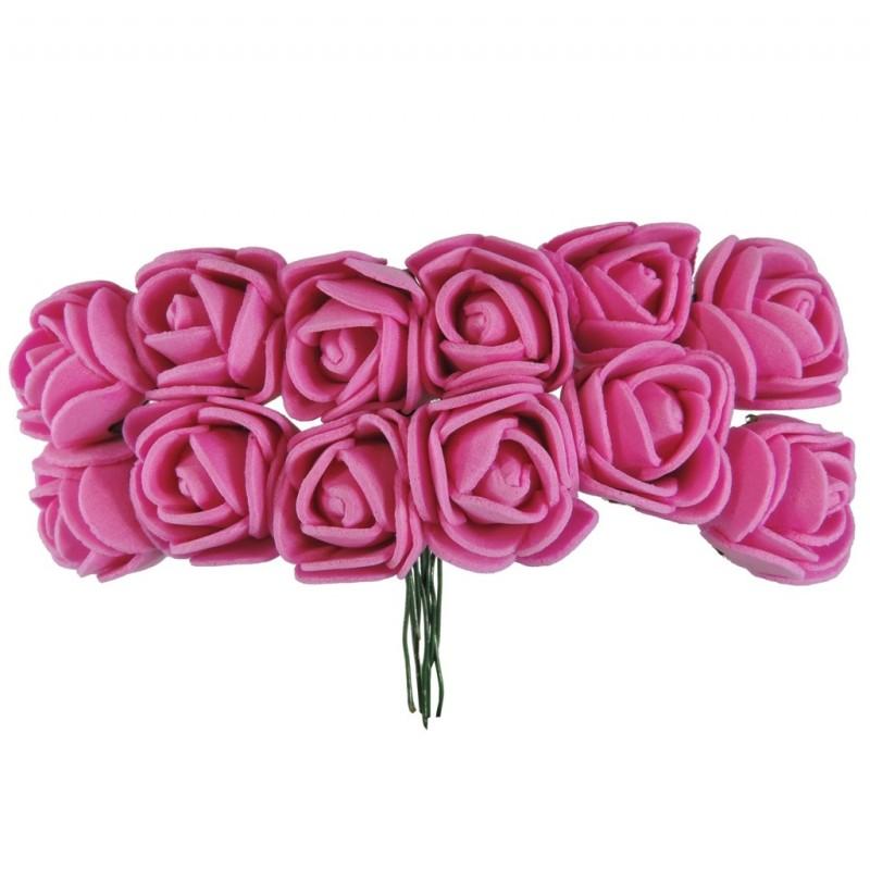 Mini Rosa Foam Ø 25 mm Fucsia