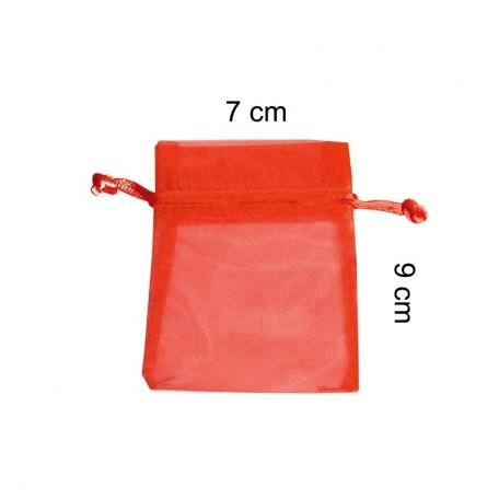 Bolsita Organza 7 x 9 Rojo