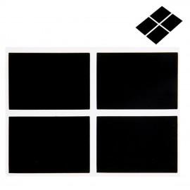 12 Pizarras Adhesivas Rectangular 5x3,5