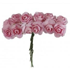 Mini Rosa Papel Ø 20 mm Rosa (12 ud)