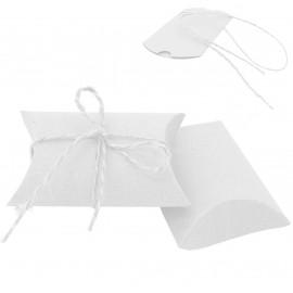 Cajita / Bolsa papel Kraft Blanco 9x6.5
