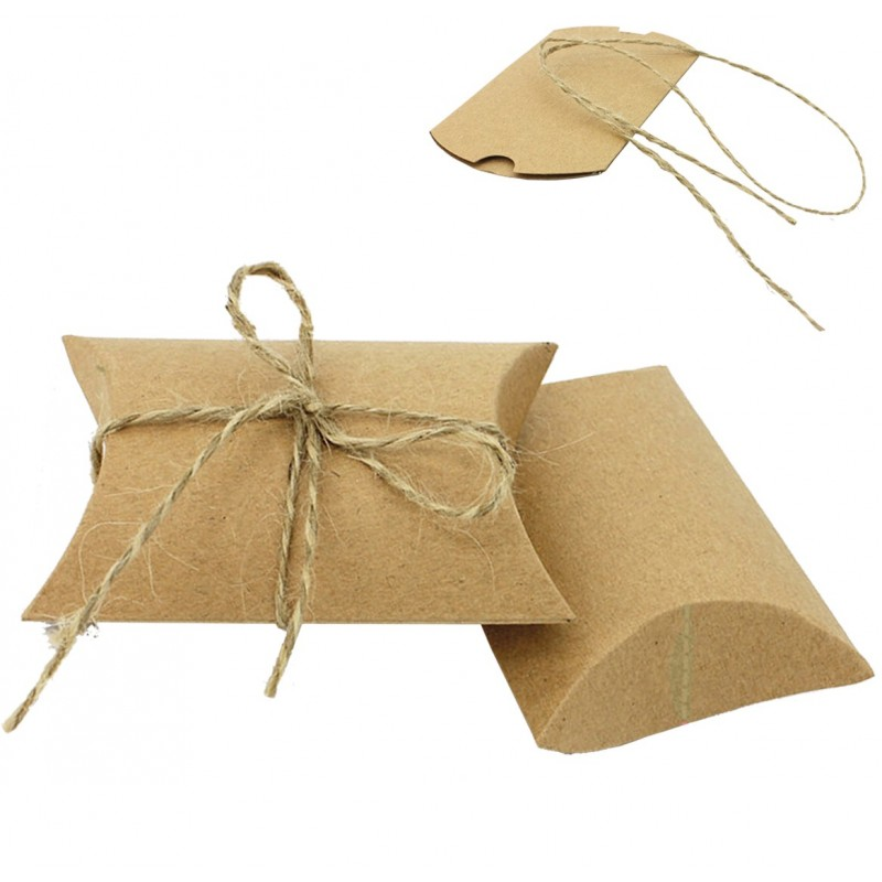 Cajita / Bolsa papel Kraft Natural 9x6.5