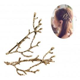 Pinza de pelo ramas cobre