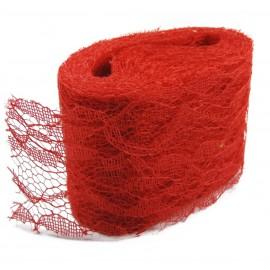 Rollo Encaje Tull 10y x ↕ 5 cm Rojo