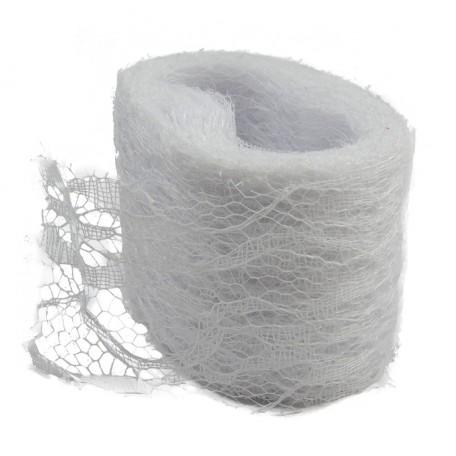 Rollo Encaje Tull 10y x ↕ 5 cm Blanco