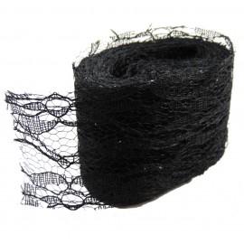 Rollo Encaje Tull 10y x ↕ 5 cm Negro