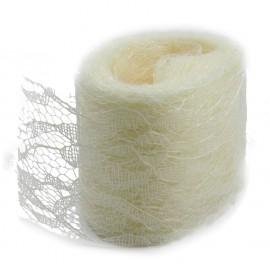 Rollo Encaje Tull 10y x ↕ 5 cm Beige