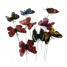 Pick Mariposa Plastico ↕28cm (9 uds)