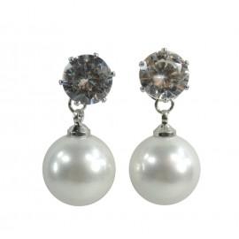 Pendiente Colgante Perla Corto ↕ 4cm (par)