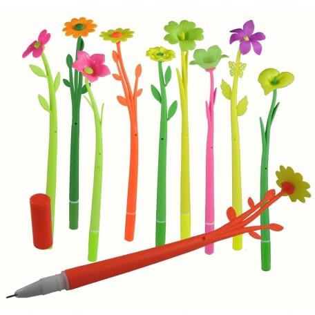 Boligrafo Flores y Colores Mixtos