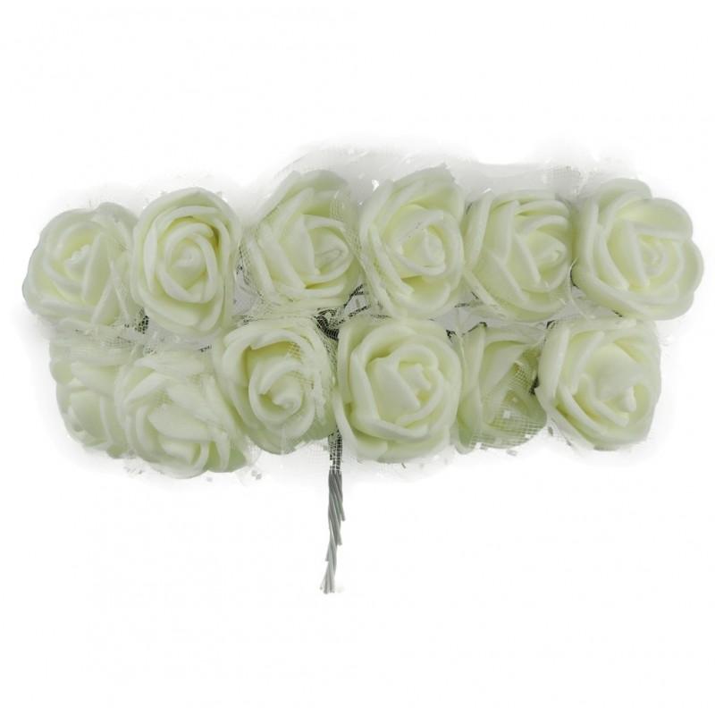 Mini Rosa Foam / Tull Ø 25 mm Beige