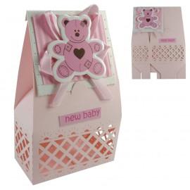 Cajita Rosa Osito Bebe ↕ 10,5 cm