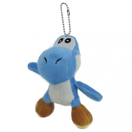 Yoshi Peluche Llavero 12 cm Azul