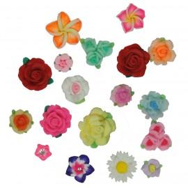 Flores y Rosas Surtidas Resina