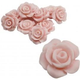 Rosa Resina 13 mm Rosa (10 uds)