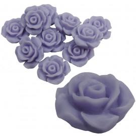 Rosa Resina 13 mm Lavanda (10 uds)