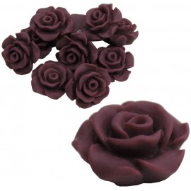 Rosa Resina 13 mm Purpura (10 uds)
