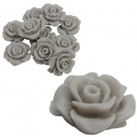 Rosa Resina 13 mm gris (10 uds)