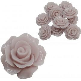 Rosa Resina 20 mm Gris (10 uds)