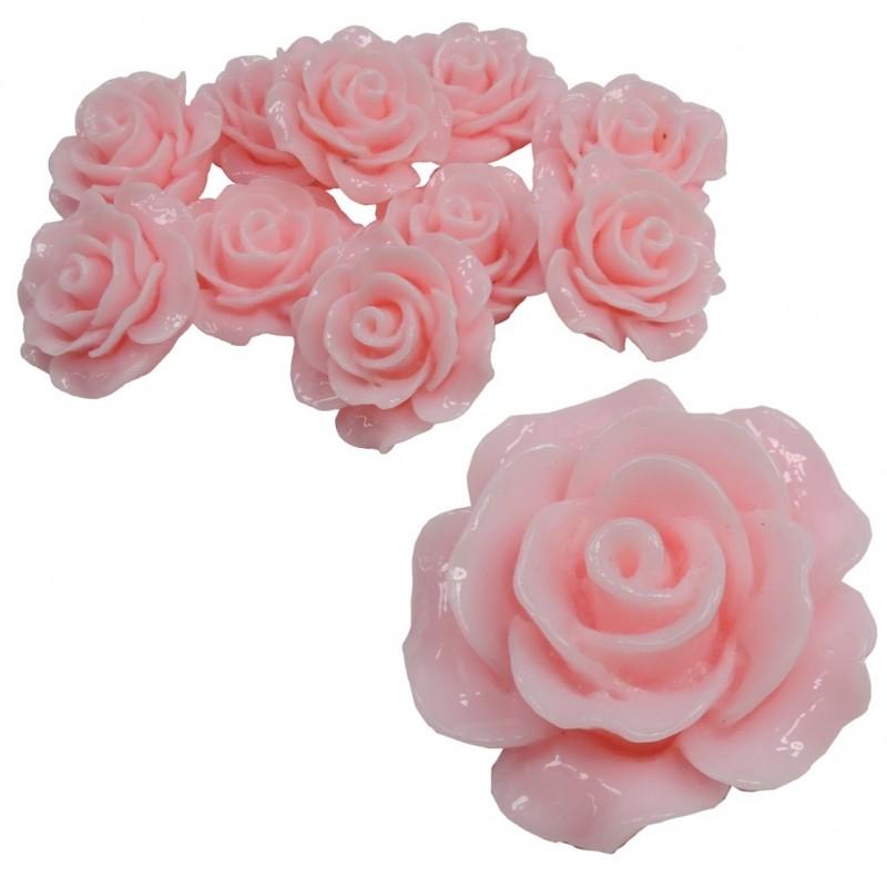 Rosa Resina 20 mm Rosa (10 uds)