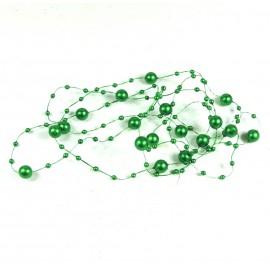 Guirnalda Perla 8/3mm Verde 1,25 mts
