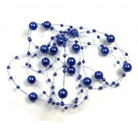 Guirnalda Perla 8/3mm Azul 1,25 mts