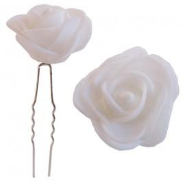 Horquilla Rosa Foam Ø 3,5cm Blanca