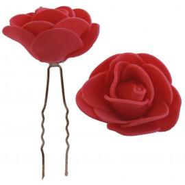 Horquilla Rosa Foam Ø 3,5cm Roja