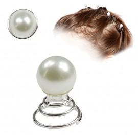 Horquilla Espiral Pelo Perla 10mm