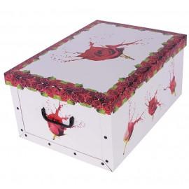 Caja Rosa Roja 51x37x↕24 cm
