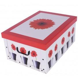 Caja Margarita Roja 51x37x↕24 cm