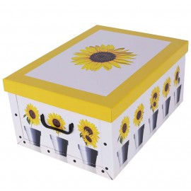 Caja Girasol Amarillo 51x37x↕24 cm