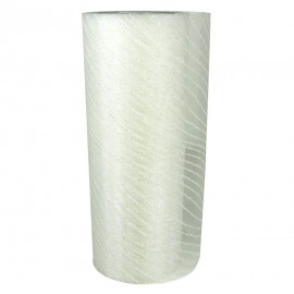 Rollo Organza Lineas Cebra ↕ 15 cm