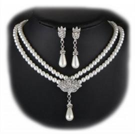Collar y Pendientes Perlas Pavo Real