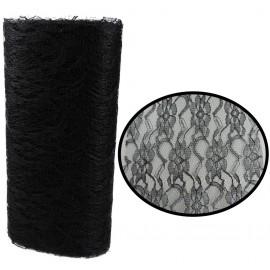 Rollo Tull Encaje Negro ↕ 15 cm