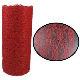 Rollo Tull Encaje Rojo ↕ 15 cm