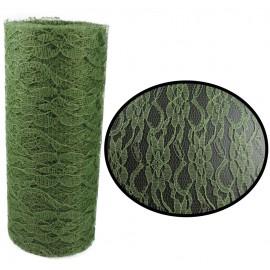 Rollo Tull Encaje Verde ↕ 15 cm