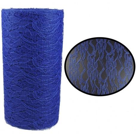 Rollo Tull Encaje Azul ↕ 15 cm