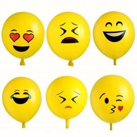 Globos Emoji Amarillo 30 cm Latex