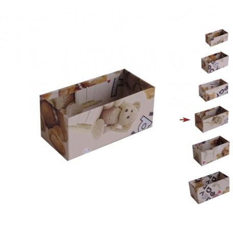 Cajita Abierta Osito Terry ↕5,5x6x11,8