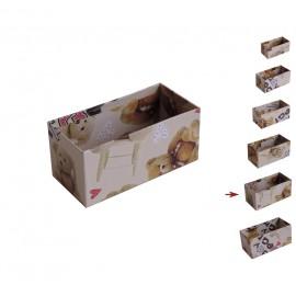 Cajita Abierta Osito Terry ↕5,9x6,8x12,8